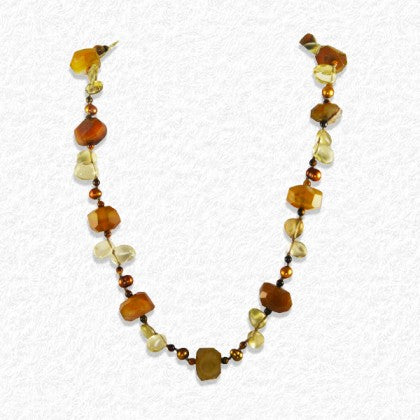 "Sterling Silver ""Honey Caramel"" Necklace"