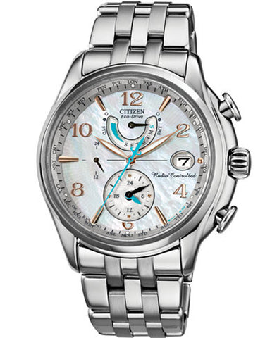 "Citizen Women's  ""World Time A-T"" Stainless Steel Eco-Drive Watch"