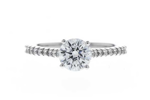 14K White Gold .22ct Diamond Semi-Mount Engagement Ring