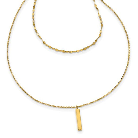 Yellow Gold Layered-Necklace