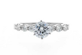 Semi-Mount Diamond Engagement Ring in 14K White Gold
