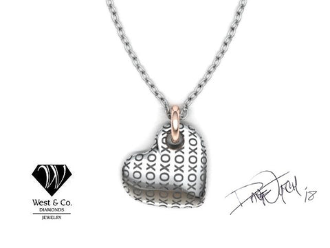 West and Company XO Heart Pendant