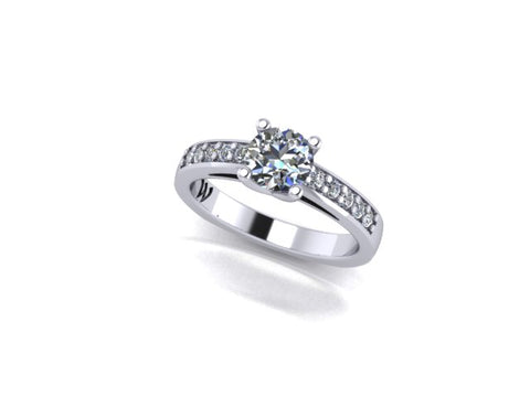 Open Cathedral Side Diamond Engagement Ring - West and Company Signature Series