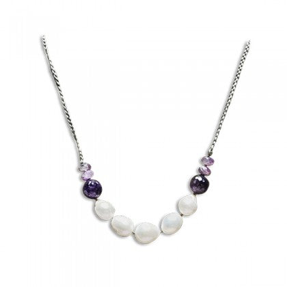 "Sharon Wei ""Royal Summit"" Amethyst and Freshwater Pearl Necklace"