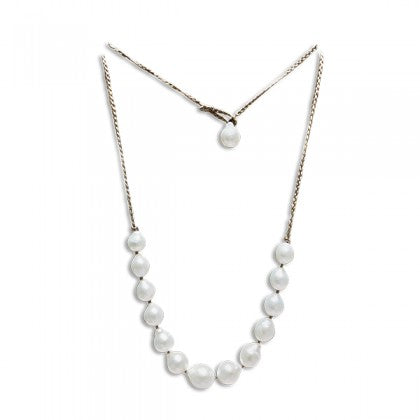 "Sharon Wei ""Water Lily"" 36 Inch Freshwater Pearl Necklace"