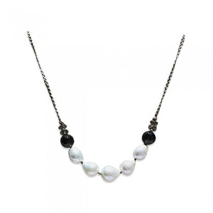 Sharon Wei Freshwater Pearl and Smoky Quartz Necklace