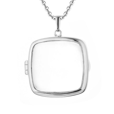 Sterling Silver Glass Locket Pendant
