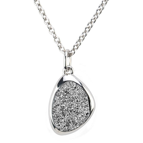 Frederic Duclos Sterling Silver Drusy Necklace