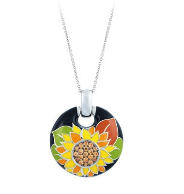 Belle E'toile Sunflower Pendant