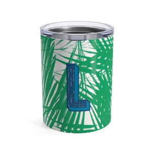 Small Palm Leaves Green Tumbler