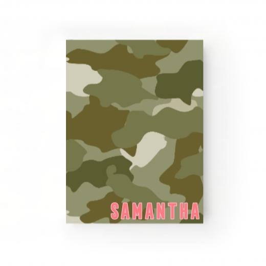 Camo Green Journal