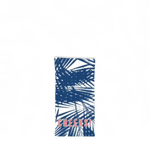 Palm Leaves Navy Hostess Towel