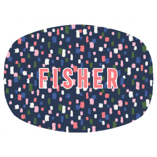 Come On Get Happy! Confetti Navy Platter