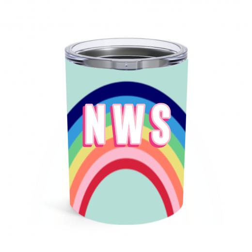 Small Rainbow Blue Tumbler