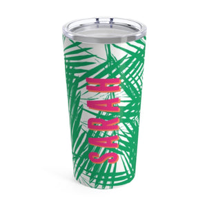 Large Palm Leaves Green Tumbler