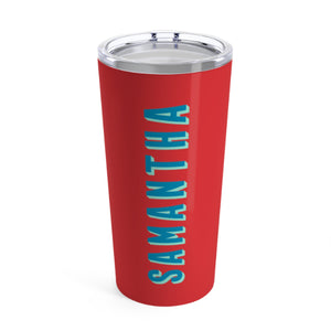Large Solid Red Tumbler