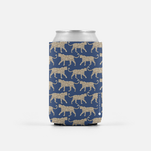 Leopard Navy Can Cooler