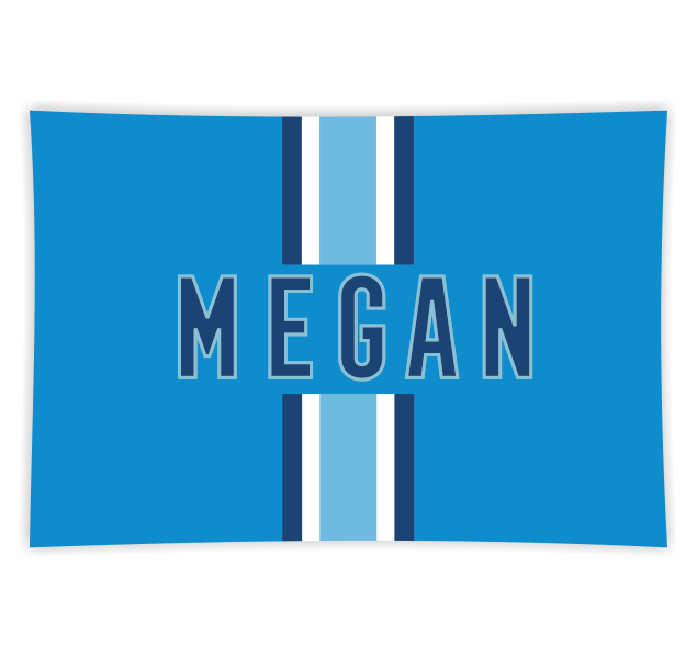 Racing Stripe Blue Rectangle Glass Tray