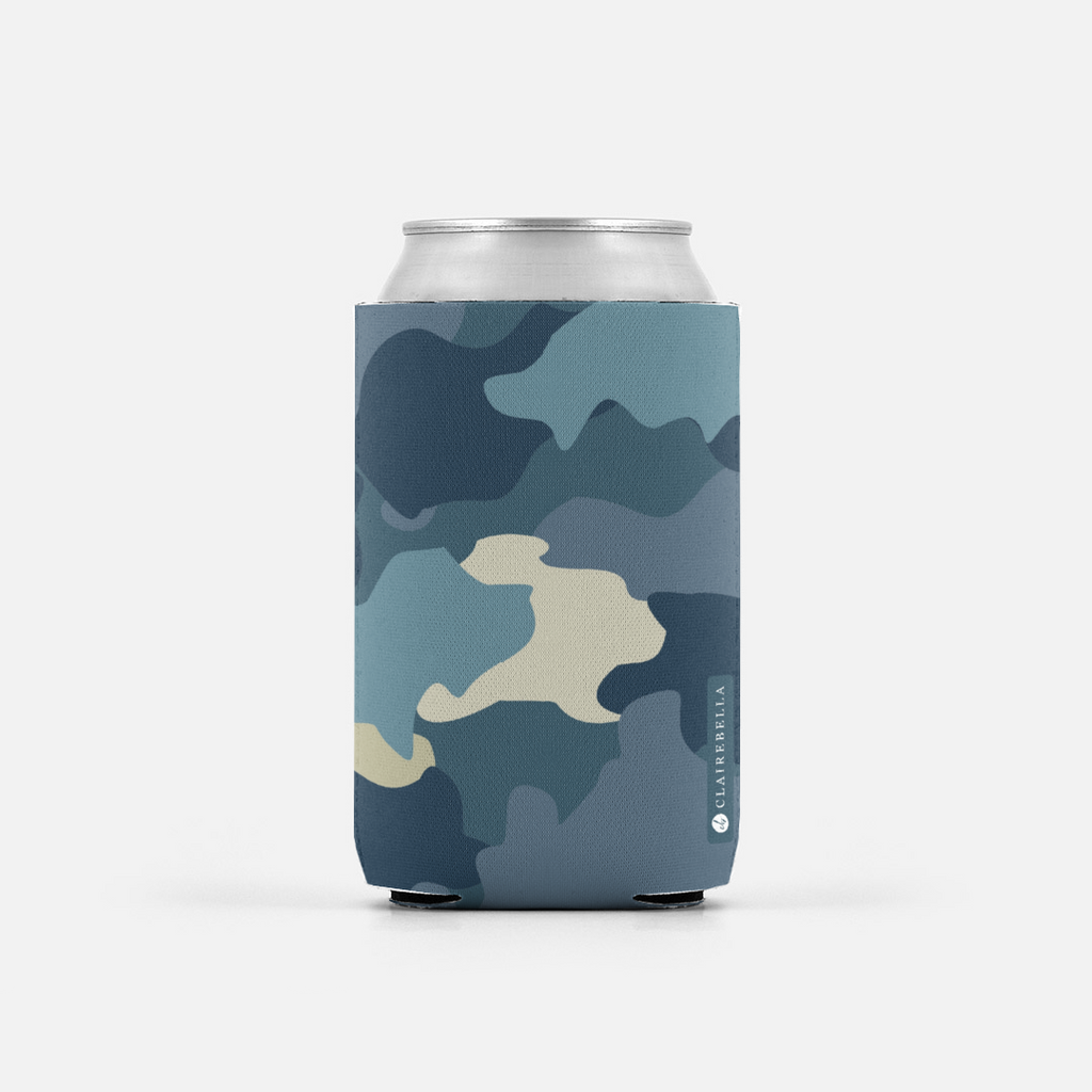 Camo Blue Can Cooler