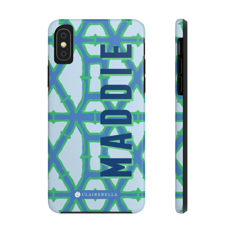 iPhone Tough Case XS Max Bamboo Blue