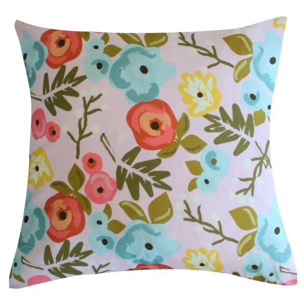 Bloom Blush Pillow by Clairebella