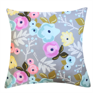 Bloom Gray Pillow Cover