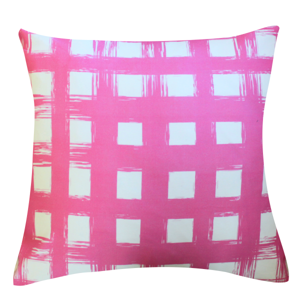 Brush Plaid Orchid Pillow