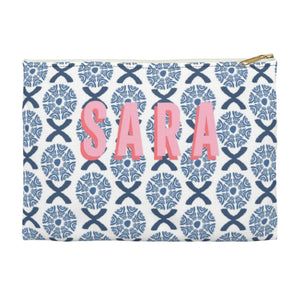 Camille Blue Small Zippered Clutch