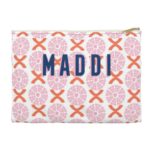 Camille Pink Small Zippered Clutch