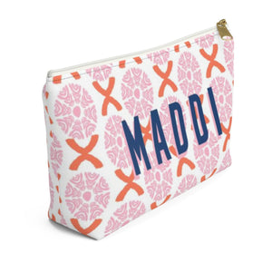 Camille Pink Large Zippered Pouch