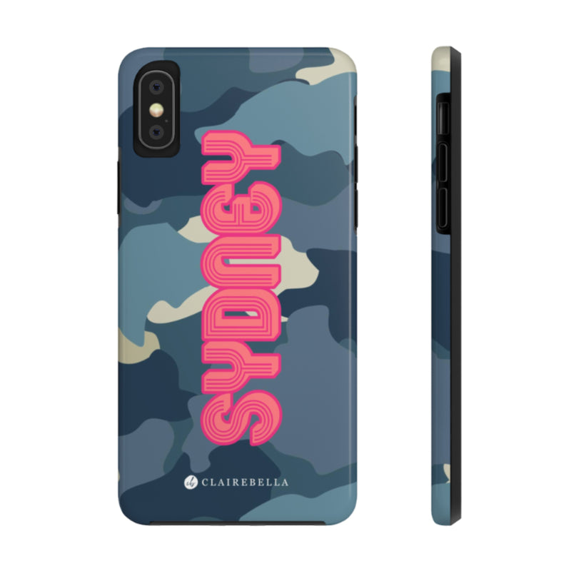 iPhone Tough Case X/XS Camo Blue