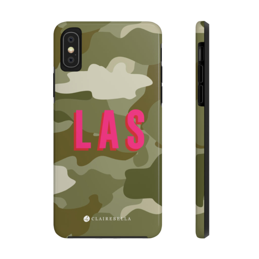 iPhone Tough Case XR Camo Green