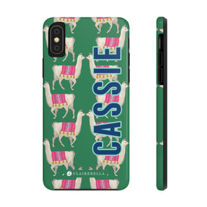 iPhone Tough Case X/XS Llama Green