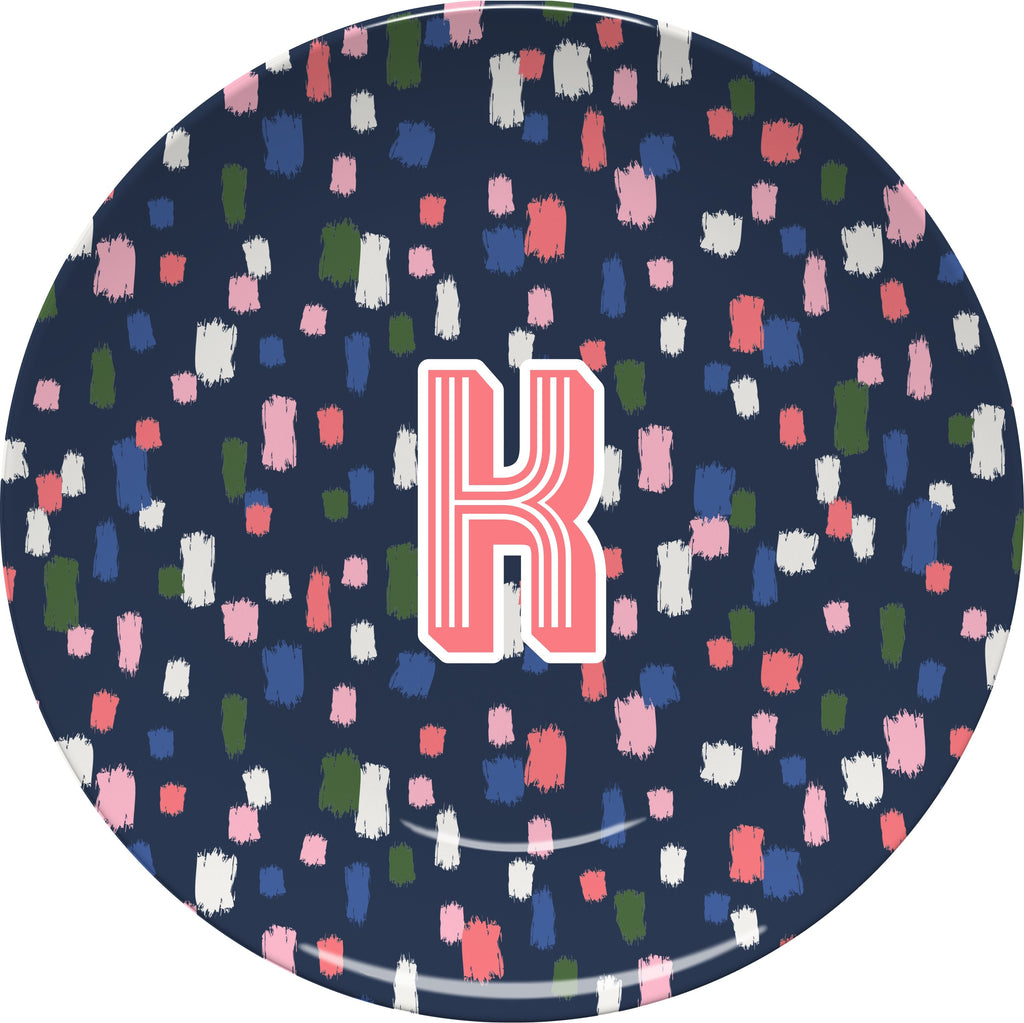 Come On Get Happy! Confetti Navy Plate