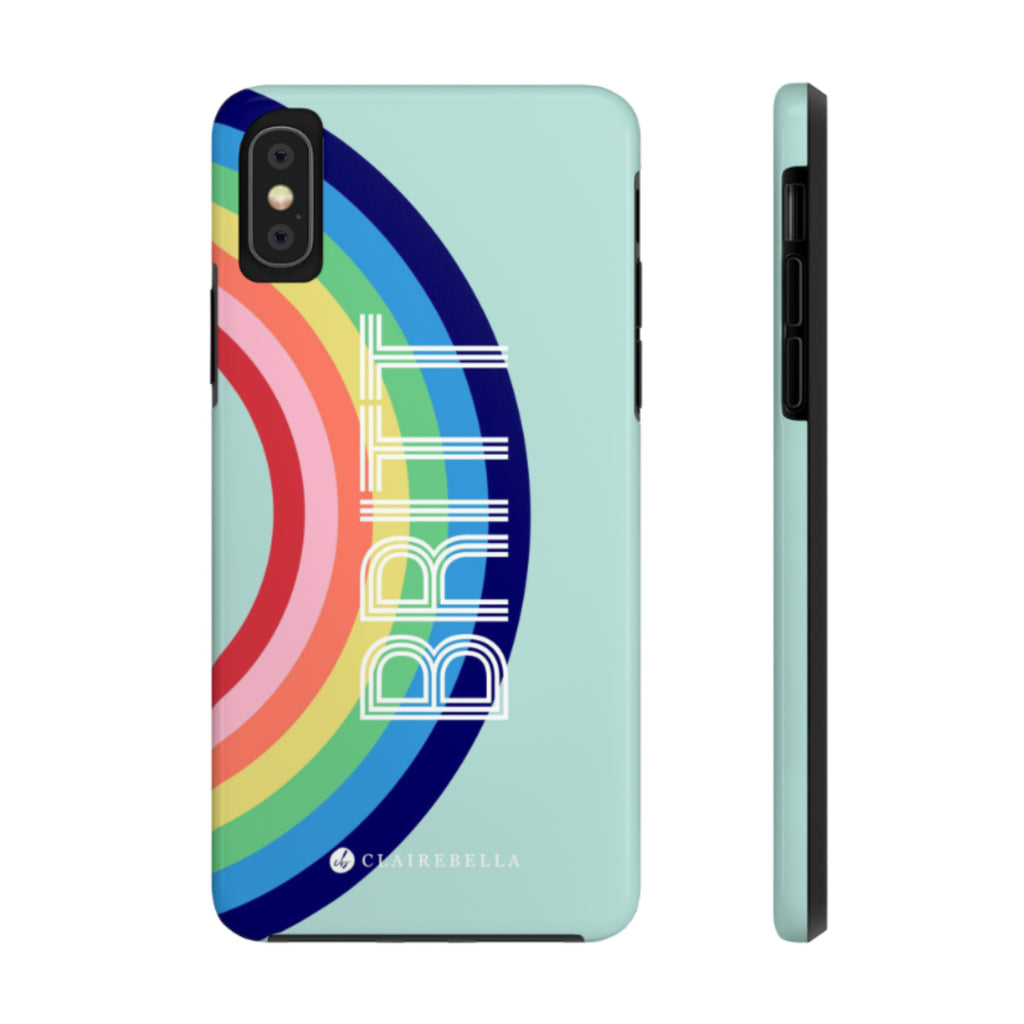 iPhone Tough Case XR Rainbow Blue