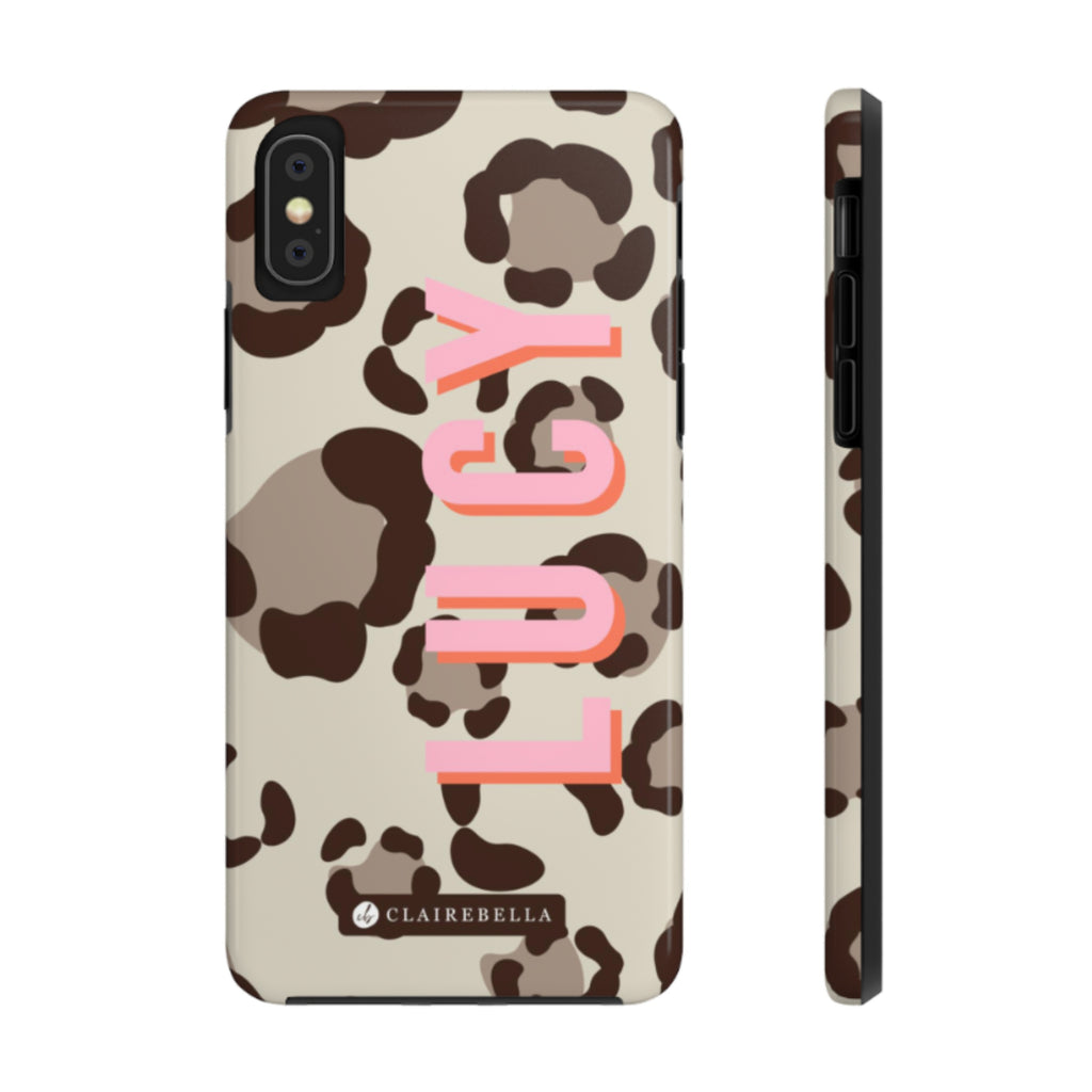iPhone Tough Case XR Spots Tan