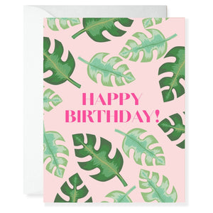 Tropical Birthday Greeting Card