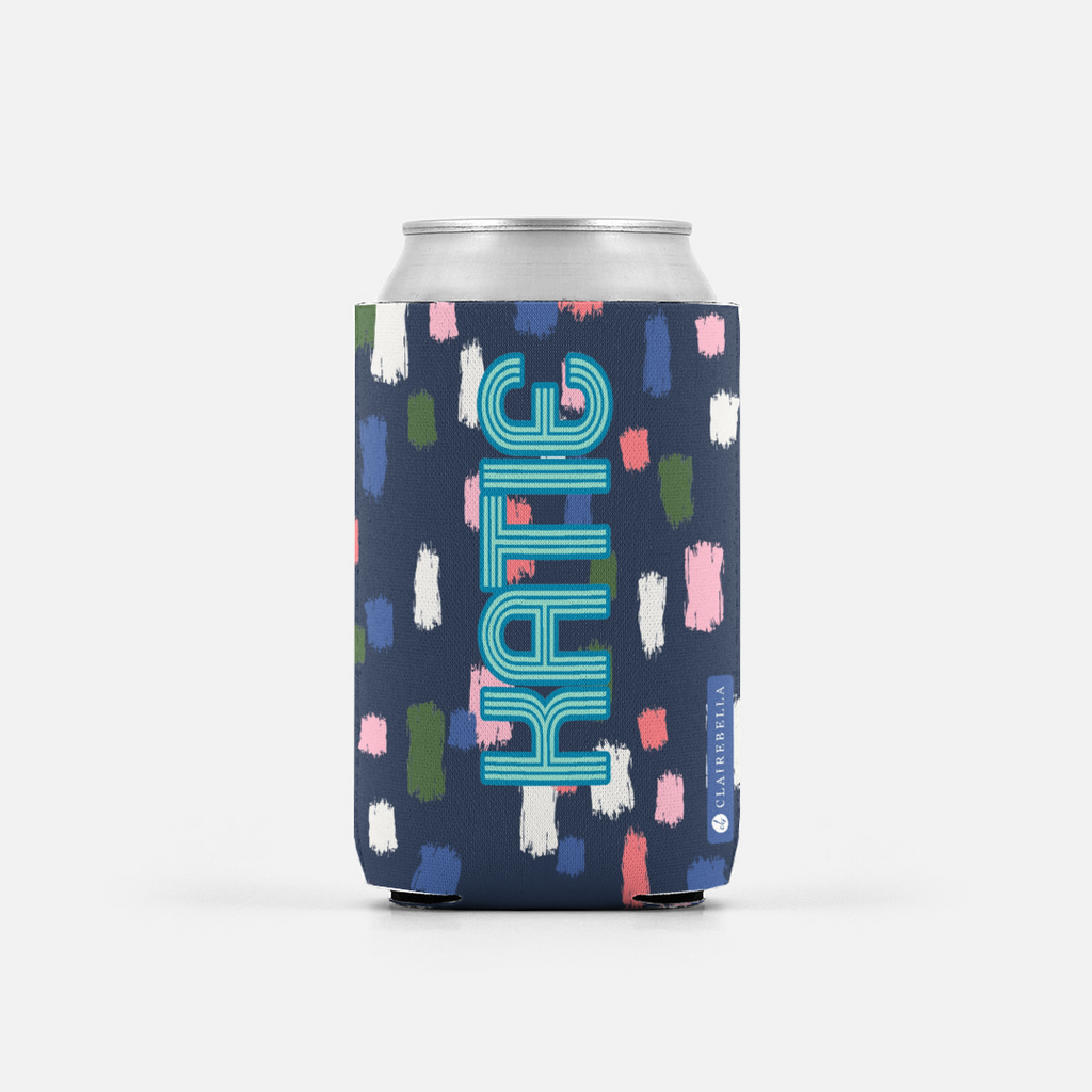 Come On Get Happy! Confetti Navy Can Cooler