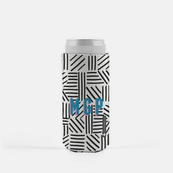 Mod About You Stripes Black Slim Can Cooler