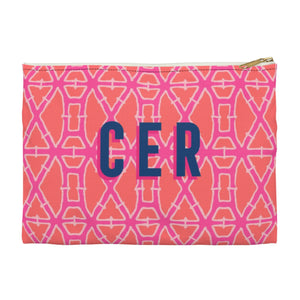 Bamboo Pink Small Zippered Clutch
