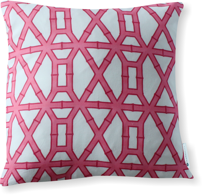 Luxe Bamboo Pink Pillow