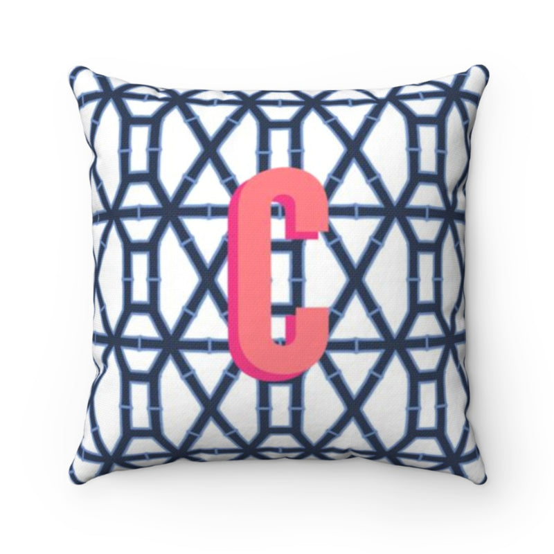Bamboo Navy Pillow Cover