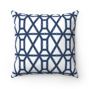 Bamboo Navy Outdoor Pillow