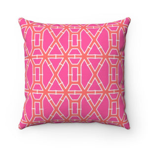 Bamboo Pink/Orange Pillow Cover