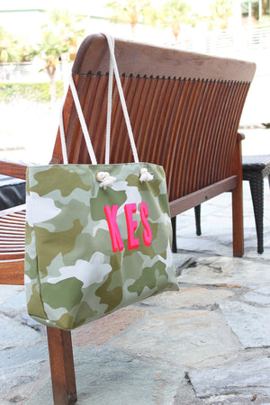 Camo Green Travel Tote