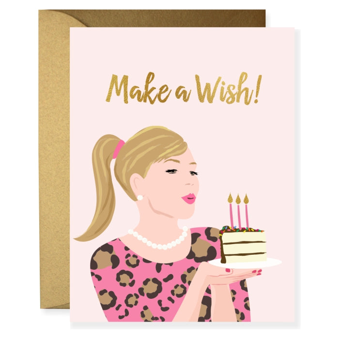Leopard Birthday Girl Greeting Card