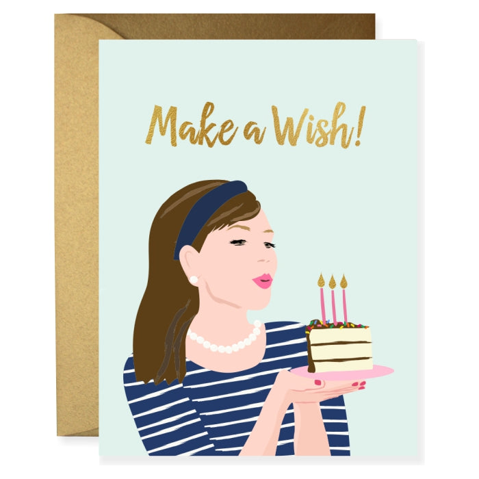 Stripe Birthday Girl Greeting Card