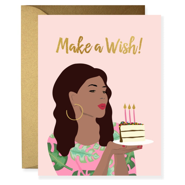 Tropical Birthday Girl Greeting Card
