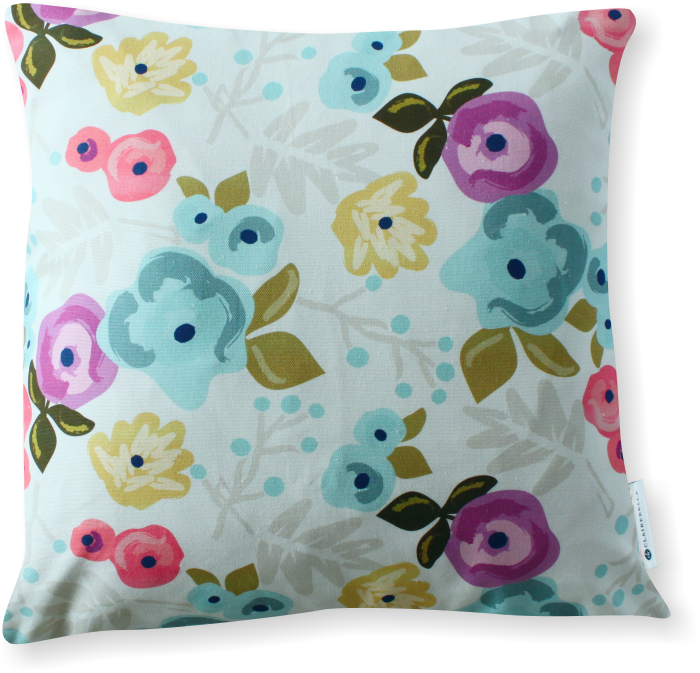 Luxe Bloom Ecru Pillow Cover