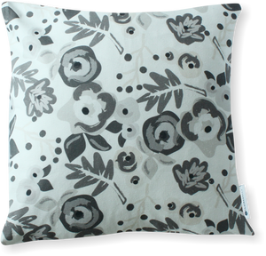 Luxe Bloom Charcoal Pillow